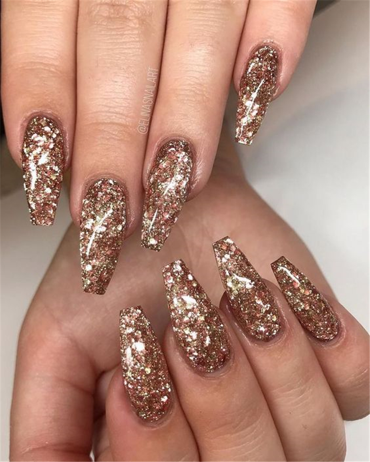 50 Stylish Winter Acrylic Coffin Nail Designs To Copy Right Now Cute Hostess For Modern Women