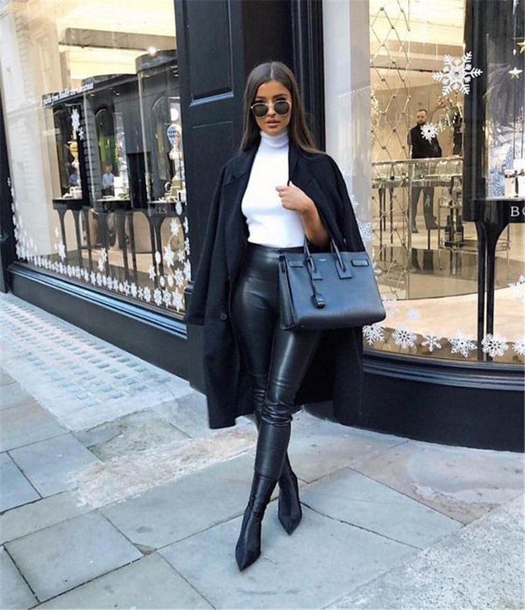 Chic And Cool Winter Street Outfits To Make You Look Like A Superstar; #Winter Outfits; #Fall Outfits; #Trendy Winter Outfits; #Chic Casual Outfits; #Casual Outfits; #Winter Casual Outfits; #School Girl; #Outfits; #Winter Coat; #Street Outifts; #Winter Street Outfits; #trajes de invierno; #зимние наряды; #tenues d'hiver