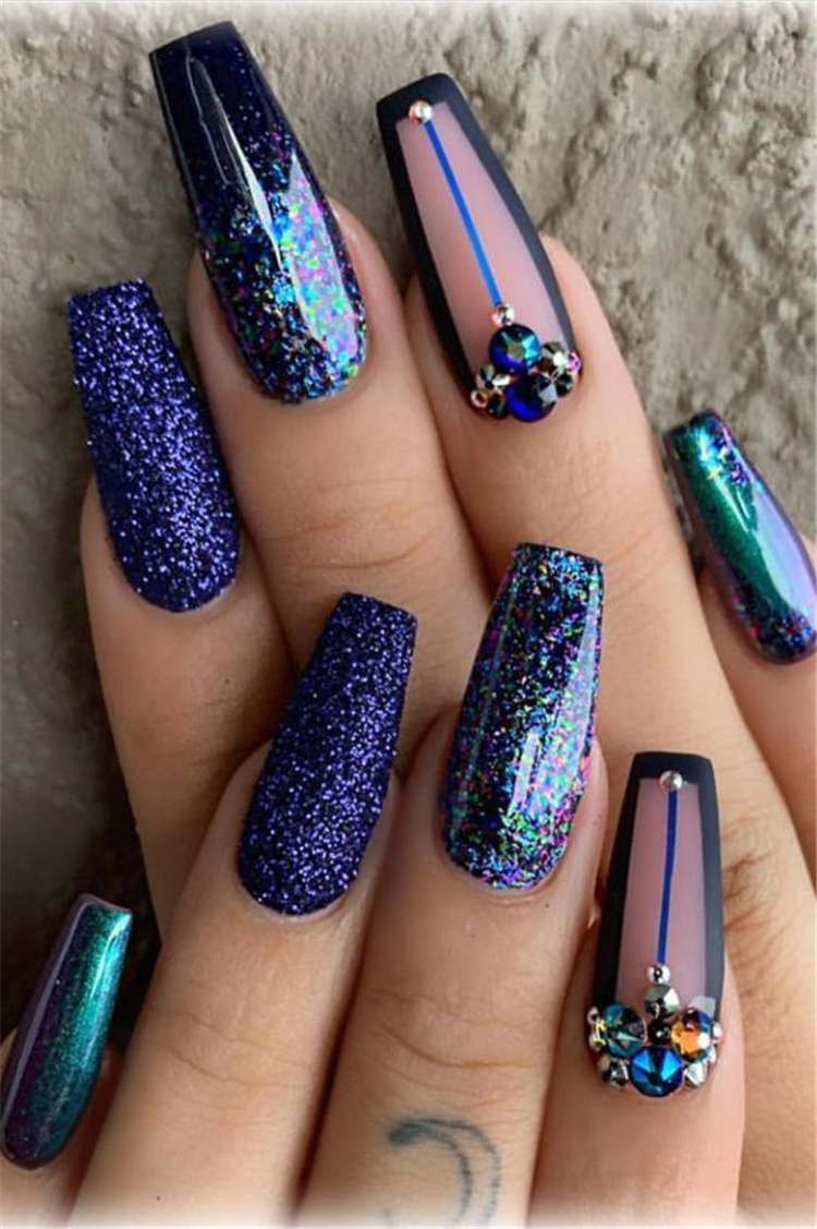 N.I.C.O.L.E | @GXLDEN22 | Shiny nails designs, Nails