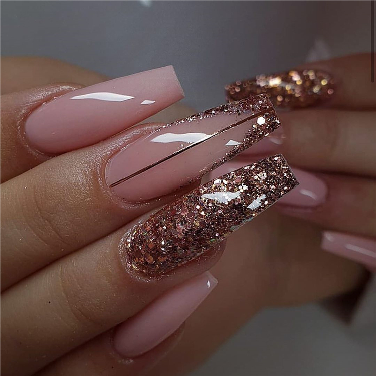 55 Stylish And Coolest Coffin Nail Designs To Start Your ...