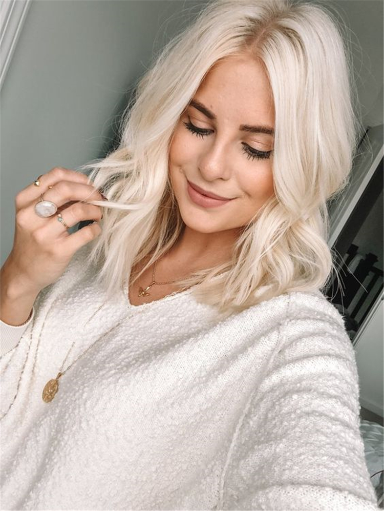 Gorgeous Platinum Blonde Hair Colors And Styles For You; Platinum Blonde Hair; Platinum Blonde; Blonde Hair; Hair Colors; Hair Colors And Styles; Platinum Blonde Hair Colors; Fall Hair Color; Fall Platinum Blonde Hair;