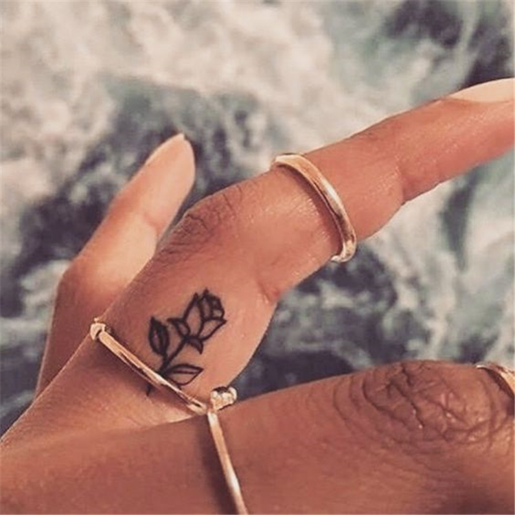 Tiny Yet Gorgeous Finger Tattoo Ideas You Must Love; Finger Tattoo; Finger Tattoo Designs; Tiny Tattoos; Small Tattoo; Shape Tattoos; Amazing Tattoos; Floral Tattoo; Floral Finger Tatttoo;