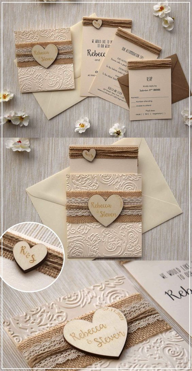 Creative And Gorgeous Wedding Invitation Ideas For Your Perfect Wedding; Wedding Invitation; Wedding Invitation Ideas; Dream Wedding; Lovely Wedding Invitation; Wedding Letter; Wedding Ideas; Wedding Planner; Wedding Designer;