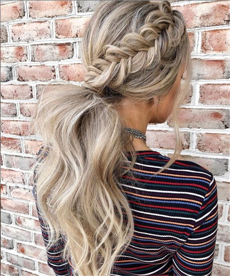 Glamorous And Trendy Ponytail Hairstyles For This Winter; Ponytail Hair Prom; Blonde Hair Style; Messy Ponytail Hairstyle; Casual Ponytail Hairstyle; High Ponytail Hair Style; Easy Ponytail Hairstyle#Ponytail#Hairstyle#BlondeHair