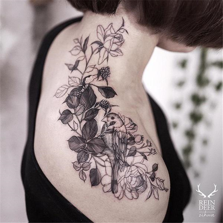Shoulder Tattoo Ideas You Will Love; Shoulder Tattoos; Small Shoulder Tattoo; Rose Shoulder Tattoo; Back Rose Shoulder Tattoo; Flower Shoulder Tattoo;