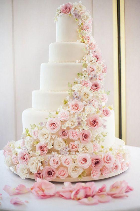 Elegant And Beautiful Wedding Cakes You'll Like; Wedding Cakes; Floral Wedding Cakes; Floral Cakes; Romantic Cakes; Elegant Wedding Cakes; Rustic Wedding Cakes; Rustic Wedding; Modern Wedding Cakes;