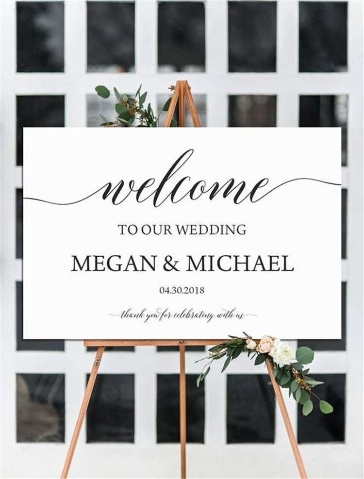 Elegant Wedding Welcome Signs You Will Like; Wedding Welcome Sign; Welcome Sign; Wedding Sign; Romantic Wedding Sign; Elegant Wedding Sign;
