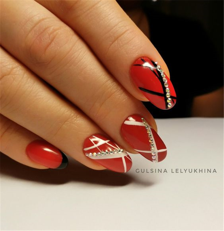Gorgeous Red Nail Art Designs For Stylish Women; Red Nails; Coffin Nails; Nails; Acrylic Nails; Gorgeous Red Nail Designs; Red Nail Art; Bloody Red Nails; Bloody Red Nail Art Designs;