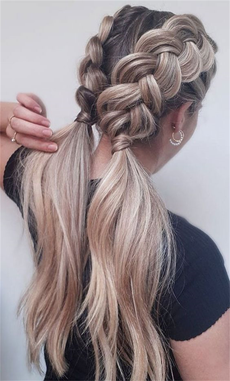 Gorgeous And Pretty Hairstyles To Make You Glam; Easy Hairstyles; Quick Hairstyles; Time Saving Hairstyles; Ponytail Hairstyles; Half Up Half Down Hairstyles; Double Dutch Braids Hairstyles; Hairstyles; #hairstyles #easyhairstyle #quickhairstyle #timesavinghairstyles #ponytailhairstyle #doubledutchhairstyle #halfuphalfdownhairstyles