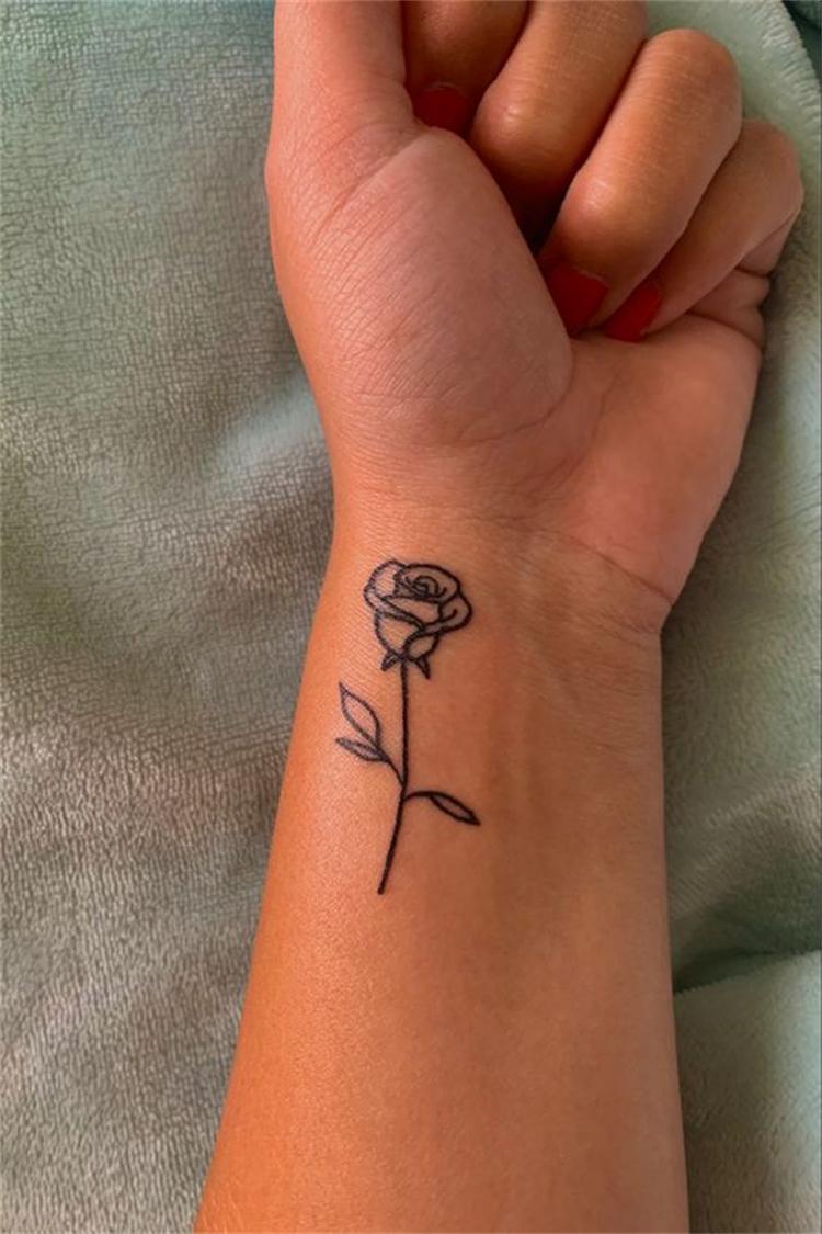 Gorgeous And Pretty Tiny Rose Tattoo Designs You Must Love; Rose Tattoo; Tattoo; Finger Rose Tattoo; Ear Back Rose Tattoo; Small Rose Tattoo; Ankle Rose Tattoo; Collarbone Rose Tattoo; Wrist Rose Tattoo; Shoulder Rose Tattoo; Sleeve Rose Tattoo; #rosetattoo #tattoo #smallrosetattoo #fingerrosetattoo #backrosetattoo #shouldrosetattoo #earbackrosetattoo #wristrosetattoo