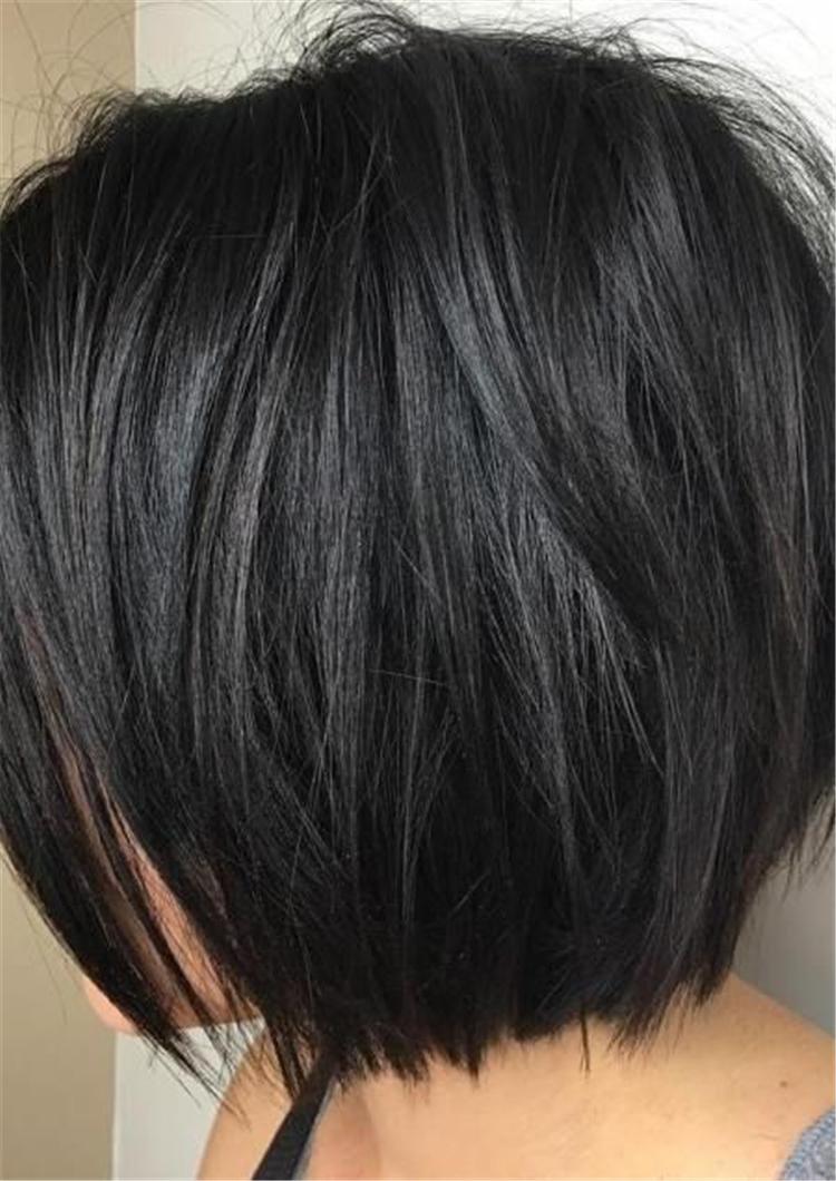 black hair,blond hair,Short and long models,Short and medium modelsr,Short bid,short hair,Stylish layered short hair