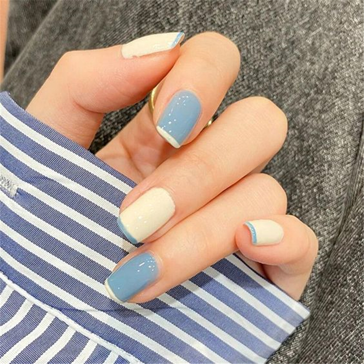 Nail,Nail Art,Popular,Elegant And Playful,Trendy Contrasting Color Nail Art ,Temperament French Manicure ,Burgundy Frosted Nail Art