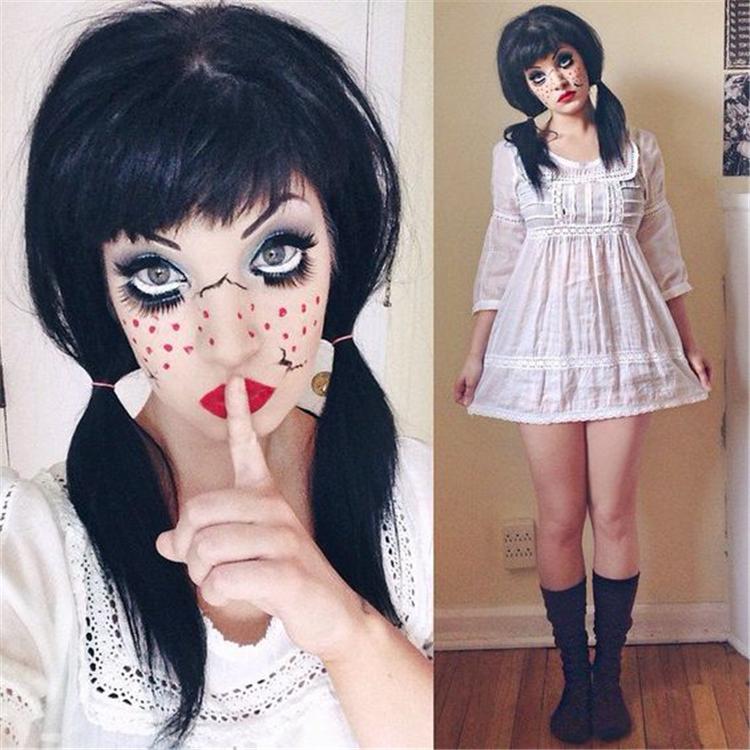 Halloween,makeup,Halloween Makeup,Eye-catching,Animal makeup,Doll makeup,Vampire makeup