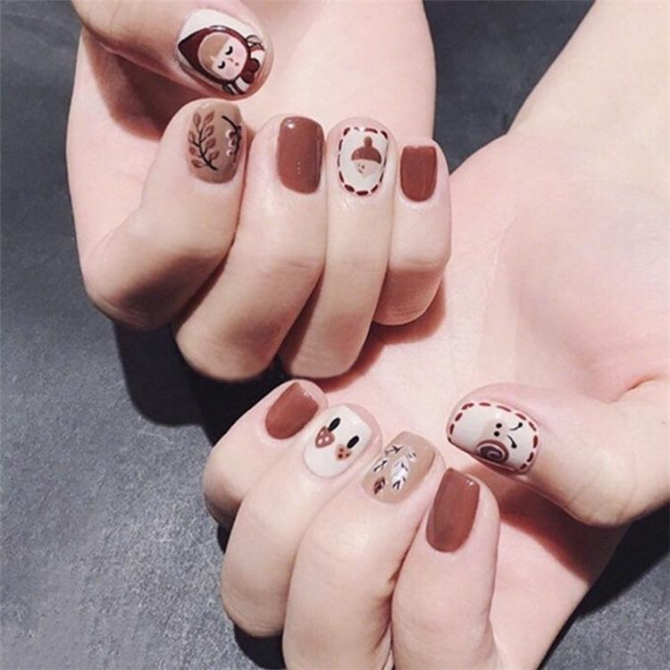Nail Designs, Mature Temperament,Autumn,Painted Streamers,Cute cartoon series of nail art patterns,Mature Royal Sister Series Nail Pattern ,Nail Pattern