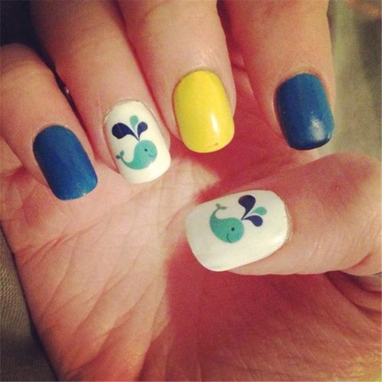 Nail Art,Cute,Playful,Painted Nail,Knit Dress,Floral nail art,Fruit pattern nail art,Animal pattern nail art