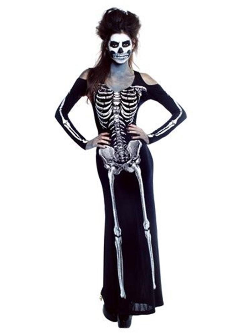 Halloween,Costumes,Thriller Themed,Halloween costumes,Skeleton clothing styling,Doll costume styling,Vampire costume styling